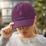 czapka z daszkiem dla przedszkolanek z misiem