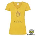 koszulka w serek dla kwiaciarni